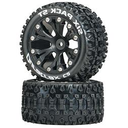 Duratrax Six Pack ST 2.8 Truck 2WD Mounted Rear C2 Wheels ,