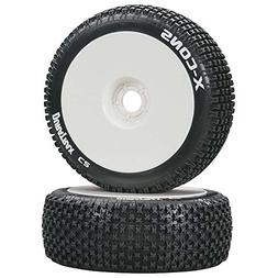 Duratrax X-Cons 1:8 Scale RC Buggy Tires with Foam Inserts,