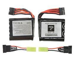 GPTOYS 2pcs 800mAh Li-ion Battery and 8pcs Universal Body Cl