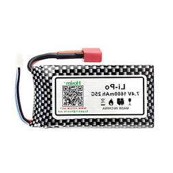 Hosim RC Cars Replacement Battery, 1600mAh Li-Po Rechargeabl