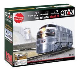 Kato USA Model Train Products N CB&Q Streak Zephyr UNITRACK