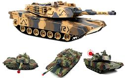 "M1A2 Abrams USA Battle Tank RC 16"" Airsoft Military Vechile"