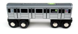 Munipals NYC Subway G Car Toy Train Wooden Railway Compatibl