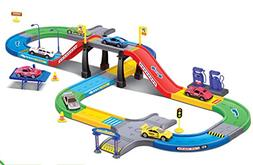 My First Speed Racing Assembly Playset - Includes 3 Diecast