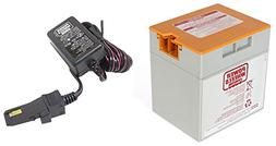Orange 12V Power Wheels Battery 00801-1661 + 12 Volt Charger