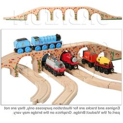 Orbrium Toys 6 Arches Viaduct Bridge for Wooden Railway Trac