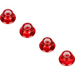 Red 4MM Wheel Nuts  for Traxxas Axial Racing HPI Racing TLR