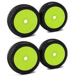 SkyQ 17mm Hub Wheel Rims and Tires for 1:8 Off-Road RC Car B