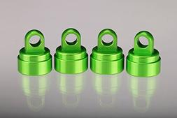 Traxxas 3767G Green-Anodized Aluminum Shock Caps, Fits All U