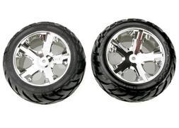 Traxxas 3773 Anaconda Tires Pre-Glued on All Star Chrome Whe