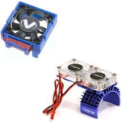Traxxas Slash 4x4 3340 Cooling Fan + Integy Motor HeatSink D