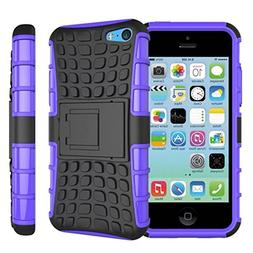 Urvoix For iPhone 5C, Hybrid Heavy Duty Dual Layer Shock Pro