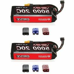Venom 20C 3S 5000mAh 11.1V LiPo Battery with Universal Plug