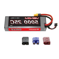 Venom 25C 2S 5000mAh 7.4V Hard Case LiPo Battery with Univer