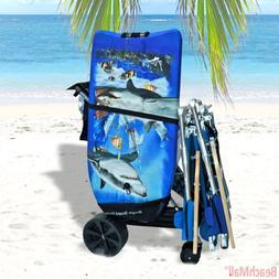 Wonder Wheeler Beach Cart - Ultra Wide Wheels with BodyBoard
