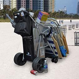 Wonder Wheeler Beach Cart - Ultra Wide Wheels with Removable