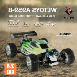 WLtoys A959-B 2.4G 1/18 Scale 4WD 70KM/h Electric RTR Off-ro