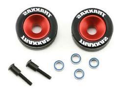 Traxxas Aluminum Wheelie Bar Wheels & Rubber Tires Stampede