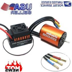 B3650 4300KV Brushless Motor+60A ESC +Program Card Combo For