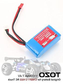TOZO 7.4V 1100mAh Battery for C1025 / C1021 / C 1022 RC CAR