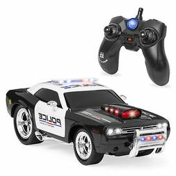 BCP 1/14 Scale 2.4GG Kids Remote Control Police Car RC Toy w