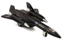 "Black Air Force SR-71A Blackbird Die Cast Jet Plane Toy w.Pull Back Action 8/"""