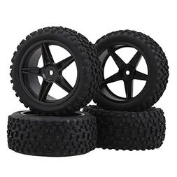 BQLZR Black Front Rear Pentagram Plastic Wheel Rims + High G