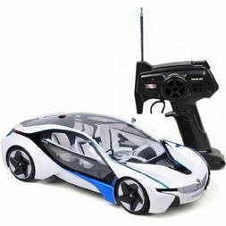 BMW I8 Vision w Lights White Vehicle RC Car 1:14 Licensed Re