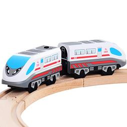 KAJA Magnetic Battery Operated Action Train Engine Bullet Tr