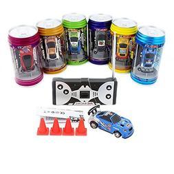 Cans type mini RC car with 4pcs roadblocks,color random,Su