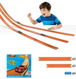 Hot Wheels Car & Mega Track Pack Stunt Builder Play Set Raci