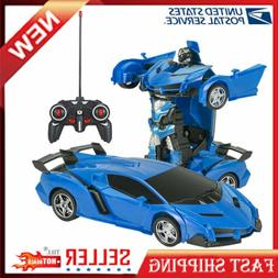 Car Transformer Sport Robot RC Led Light Vehicle Remote Cont