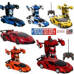2 In 1 Transformers RC Robot Car Remote Control W/ Sound Lig