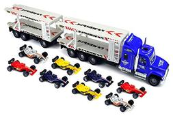Champion Formula Trailer Children's Friction Toy Transporter