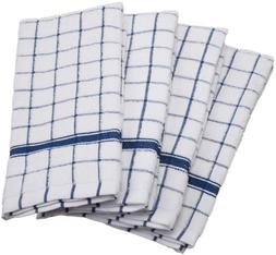 """DII Cotton Terry Windowpane Dish Towels, 16 x 26"""" Set of 4,"""