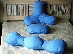 3 Piece Pillow Cover Set: Backrest, Head and Body Pillow Cov