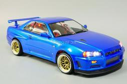 Custom RC 1/10 Drift NISSAN SKYLINE R34 AWD Belt CAR Blue RT