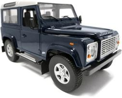 Land Rover Defender 90 Station Wagon Blue with Silver 1/18 b