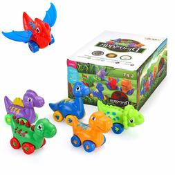 Dinosaur Cars Toys for 1 2 3 Year Old, Pull Back Dinosaur Ve