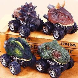 Hindom Dinosaur Model Mini Toy Car Back of the Car, Remote C