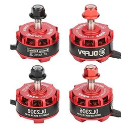 DLFPV 4pcs DL2306 2400KV 2-4S Brushless Motor for X210 X220