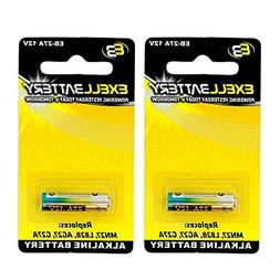 2x Exell EB-27A Alkaline 12V Battery Replaces 27A, A27, B-1,