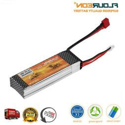 FLOUREON 1800mAh 3S1P 11.1V 25C T Plug RC LiPo Battery For R