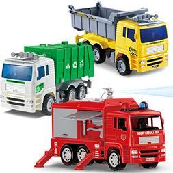 Joyin Toy 3 Pack Friction Powered City Vehicles Including Ga