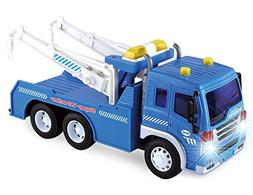 Friction Powered Wrecker Tow Truck 1:16 Toy Towing Vehicle w