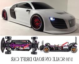Fully Custom 1/10 Scale Remote Control On-road Drift Car AUD