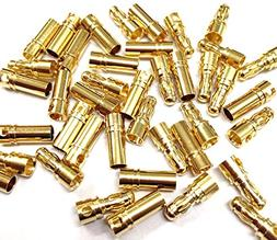 20 x 4mm 4.0mm Gold Bullet Connector Plug Male Female for RC