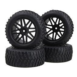 BQLZR 12mm Hex Black Plastic 16 Spoke Wheel Rim + Beard Patt