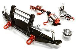 Integy RC Model Hop-ups C26546BLACK Machined Front Bumper w/