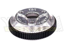 Integy Hobby RC Model T8008SILVER 76T Metal Spur Gear for Tr